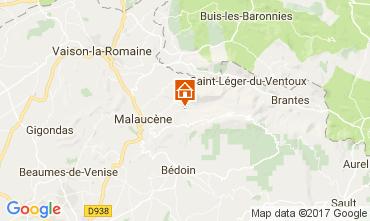 Carte Beaumont du Ventoux Gite 12501