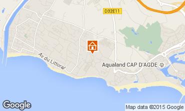 Carte Cap d'Agde Mobil-home 16390