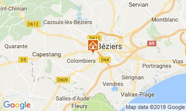Carte Beziers Gite 114921