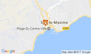 Carte Sainte Maxime Studio 108032