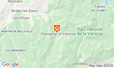 Carte Pralognan la Vanoise Appartement 2284