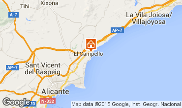 Carte Alicante Appartement 55110