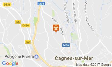 Carte Cagnes sur Mer Villa 92776
