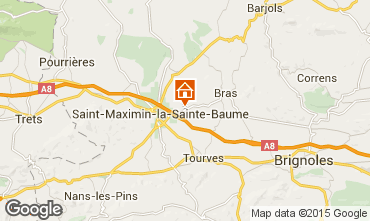 Carte Saint Maximin la Sainte Baume Villa 79351