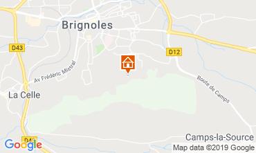 Carte Brignoles Gite 118701