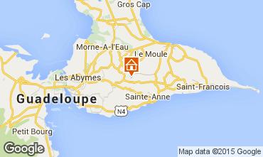 Carte Sainte Anne (Guadeloupe) Gite 8024