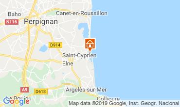 Carte Saint Cyprien Plage Villa 119532