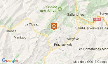Carte La Giettaz en Aravis Appartement 107658