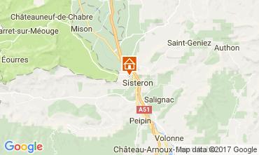 Carte Sisteron Gite 110860