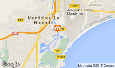 Carte Mandelieu la Napoule Studio 65092