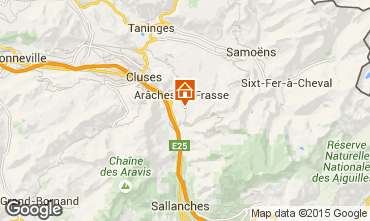 Carte Les Carroz d'Araches Chalet 82037