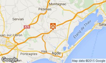 Carte Cap d'Agde Villa 85327