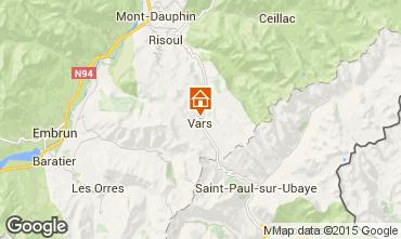 Carte Vars Chalet 3638