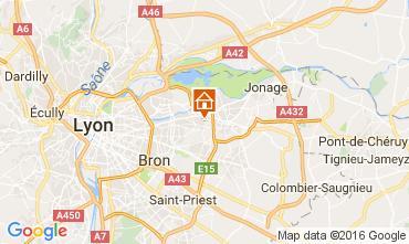 Carte Lyon Gite 107380