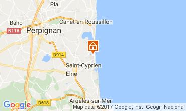 Carte Saint Cyprien Plage Maison 112320
