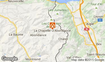 Carte La Chapelle d'Abondance Appartement 68203