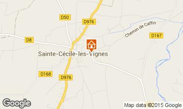 Carte Sainte-Cécile-les-Vignes Gite 80639