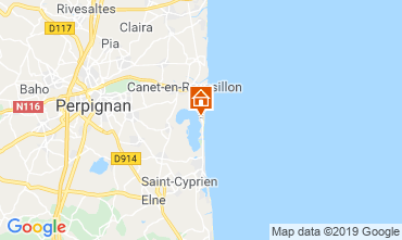 Carte Canet-en-Roussillon Mobil-home 115696