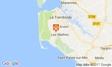 Carte La Palmyre Mobil-home 102335