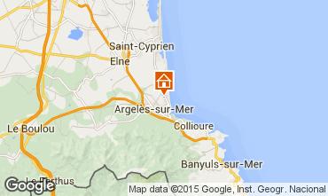 Carte Argeles sur Mer Villa 100083