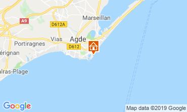 Carte Cap d'Agde Appartement 33425