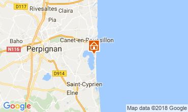 Carte Canet-en-Roussillon Mobil-home 115155