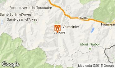 Carte Valloire Chalet 23134