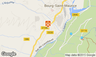 Carte Bourg saint Maurice Maison 40728