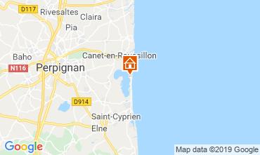 Carte Canet-en-Roussillon Mobil-home 111556
