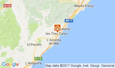 Carte La Ametlla de Mar Villa 39259
