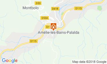 Carte Amélie-Les-Bains Appartement 105866