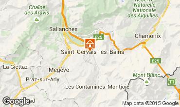 Carte Saint Gervais Mont-Blanc Studio 2546