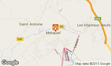 Carte Métabief Chalet 3725