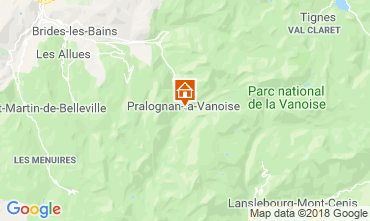 Carte Pralognan la Vanoise Appartement 38850