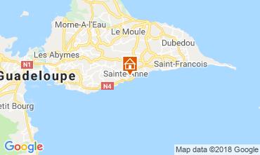 Carte Sainte Anne (Guadeloupe) Bungalow 117399