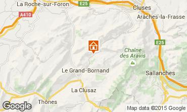 Carte Le Grand Bornand Chalet 1363