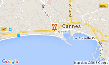 Carte Cannes Appartement 103736
