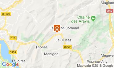 Carte La Clusaz Chalet 117139