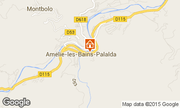 Carte Amélie-Les-Bains Appartement 77054