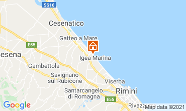 Carte Bellaria Igea Marina Appartement 107971