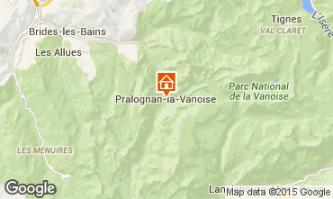 Carte Pralognan la Vanoise Appartement 93265