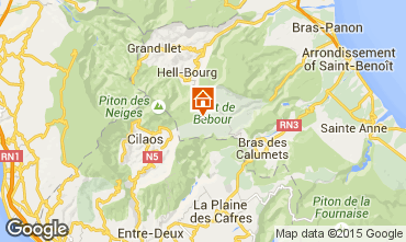Carte La Saline les Bains Villa 74576