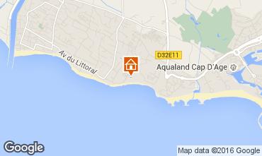 Carte Cap d'Agde Mobil-home 102695