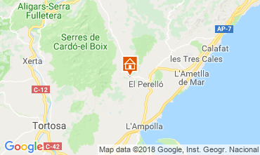 Carte La Ametlla de Mar Gite 110680