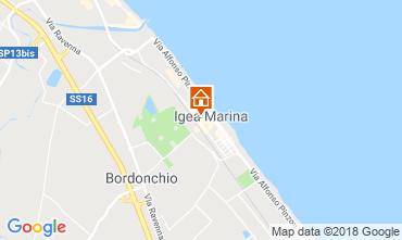 Carte Bellaria Igea Marina Appartement 82159