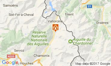 Carte Chamonix Mont-Blanc Chalet 706