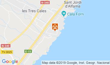 Carte La Ametlla de Mar Villa 119546