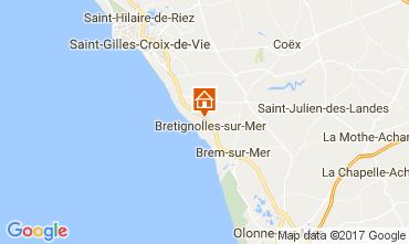 Carte Bretignolles sur mer Mobil-home 98952