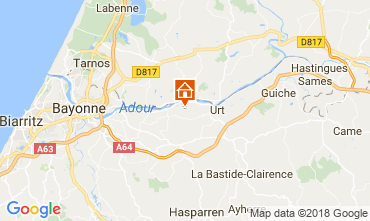 Carte Bayonne Gite 13612