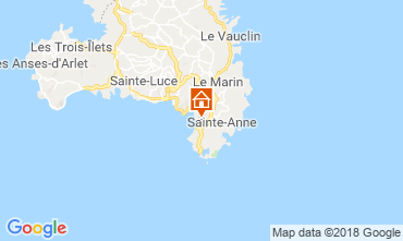 Carte Sainte Anne (Martinique) Bungalow 8125